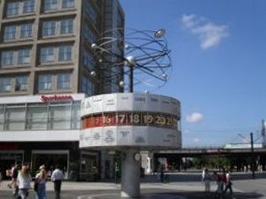 World Clock Alexanderplatz in Berlin