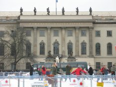 Ice rink in front of the Humboldt University