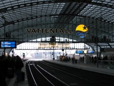 Vattenfall at the Main Railway Station