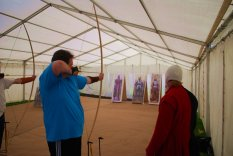 André Odeblom performs the art of archery during the 16th Century Day in Greenwich 14 June 2009