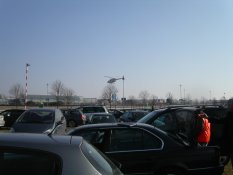 Helicopter from the parking lot