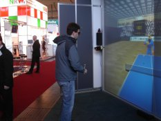 Andr� Odeblom playing virtual table tennis