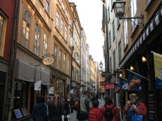 V�sterl�nggatan in the Old Town of Stockholm