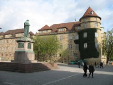 The Old Castle at Schillerplatz in Stuttgart